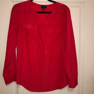 Red pocket detail shirt